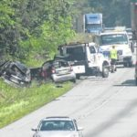 Collision sends four to hospital