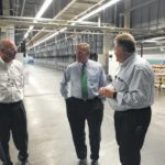 Burr visits Unifi facility